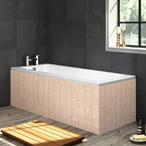Paintable Tongue and Groove Style MDF 1 Piece Bath Panels